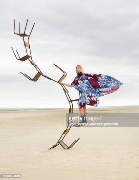 Model Alya Spir poses at a fashion shoot for Madame Figaro on September 14, 2018 in Paris, France. Dress , boots . PUBLISHED IMAGE. CREDIT MUST READ:...