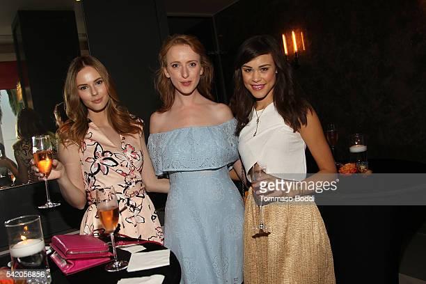 Model Alyssa Campanella actress Laura Long and model Kalyn Hemphill attend Natalie Zfat's Los Angeles Summer Dinner Party on June 21 2016 in Los...