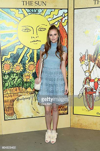 Model Alyssa Campanella attends the Alice Olivia by Stacey Bendet Spring/Summer 2017 Presentation during New York Fashion Week September 2016 at...
