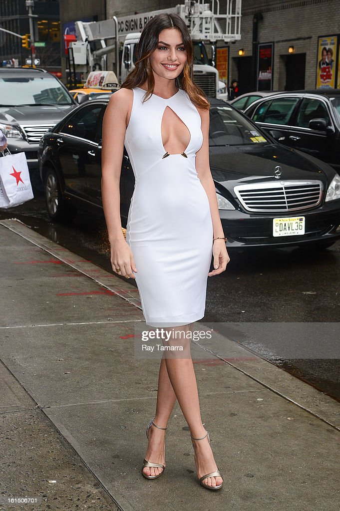 Model Alyssa Miller enters the 'Late Show With David Letterman' taping at the Ed Sullivan Theater on February 11, 2013 in New York City.