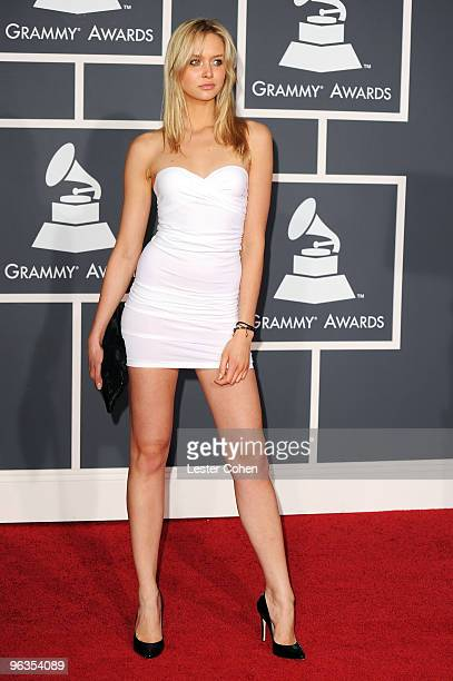 Model Amalie Wichmann arrives at the 52nd Annual GRAMMY Awards held at Staples Center on January 31 2010 in Los Angeles California