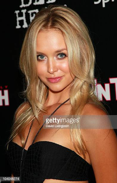 Model Amalie Wichmann attends In Touch Weekly's annual Icons Idols celebration at Bar Marmont on September 12 2010 in West Hollywood California