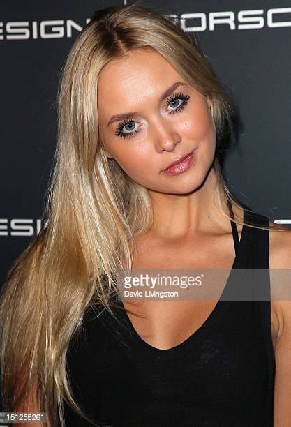 Model Amalie Wichmann attends Porsche Design's 40th anniversary event at the Sheats Goldstein residence on September 4 2012 in Los Angeles California