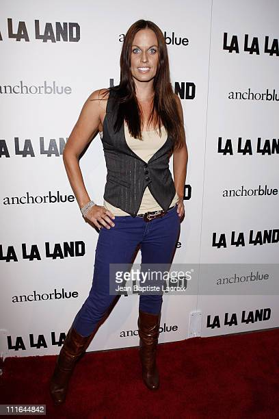 Model Amanda Beard attends the launch of 'La La Land' by Anchor Blue on the 3rd Street Promenade on November 16 2007 in Santa Monica California