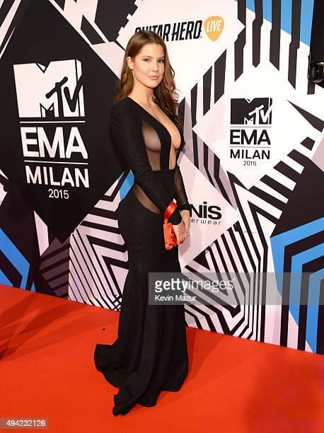 Model Amanda Cerny attends the MTV EMA's 2015 at Mediolanum Forum on October 25 2015 in Milan Italy