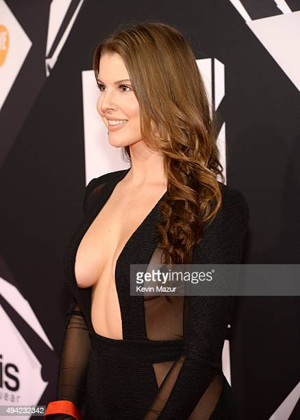 Model Amanda Cerny attends the MTV EMA's 2015 at Mediolanum Forum on October 25 2015 in Milan Italy