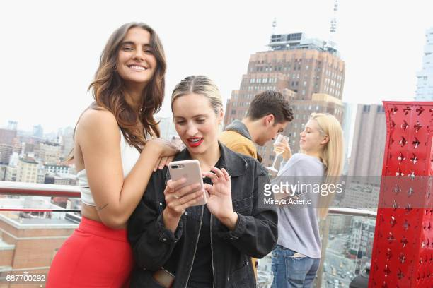 Model Amanda Riley Ferree and Jill Ferree attend the Wilhelmina Summer KickOff party at Jimmy at The James Hotel on May 23 2017 in New York City