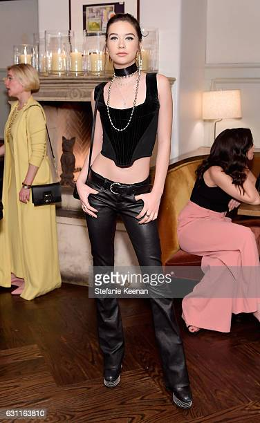 Model Amanda Steele attends Lynn Hirschberg Celebrates W Magazine's It Girls with Stuart Weitzman at AOC on January 7 2017 in Los Angeles California