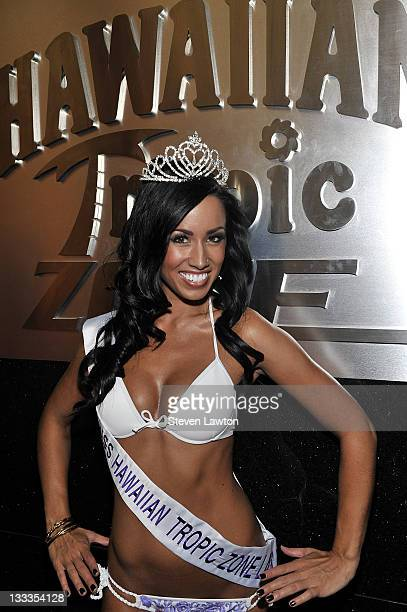 Model Amanda Tamayo wins Hawaiian Tropic Zone Beauty Pageant at Planet Hollywood Resort and Casino on September 25 2009 in Las Vegas Nevada