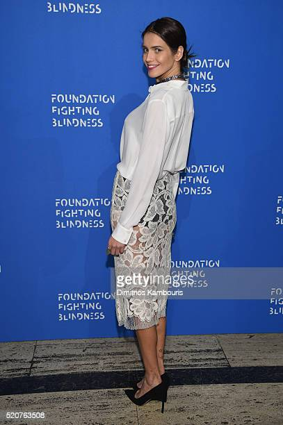 Model Amanda Wellsh attends the Foundation Fighting Blindness World Gala at Cipriani 42nd Street on April 12 2016 in New York City