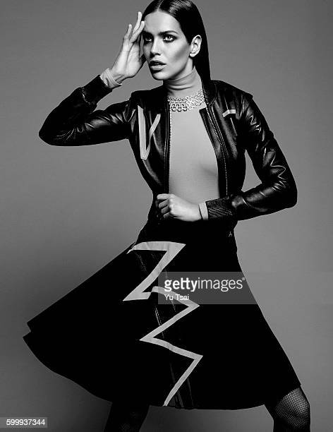 Model Amanda Wellsh is photographed for a fashion editorial Vogue Thailand on September 3 2015 in New York City