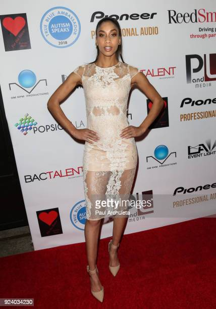 Model Amara Carey attends the Gifting Your Spectrum gala benefiting Autism Speaks on February 24 2018 in Hollywood California