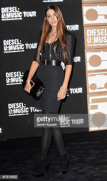 Model Amber Le Bon arrives at the DieselUMusic World Tour Party held at the University of Westminster on October 1 2009 in London England