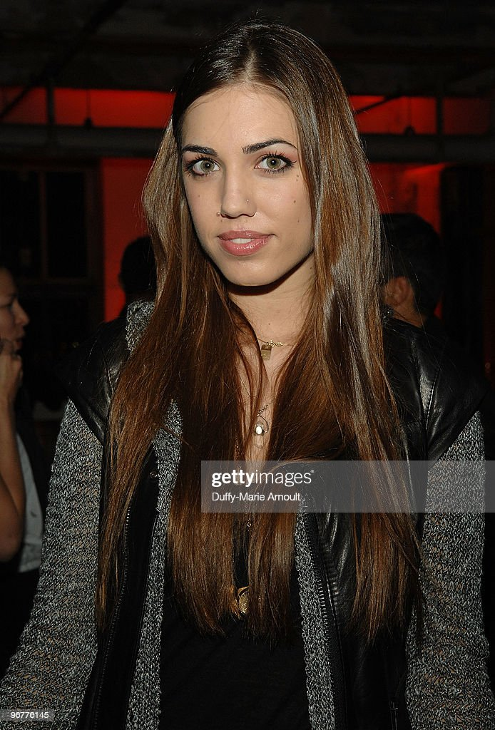 Model Amber Le Bon attends Diesel Black Gold Fall 2010 cocktail reception during Mercedes-Benz Fashion Week on February 16, 2010 in New York City.