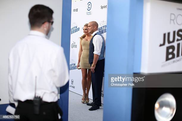 Model Amber Nichole Miller and mixed martial artist Tito Ortiz attend The Comedy Central Roast of Justin Bieber at Sony Pictures Studios on March 14...