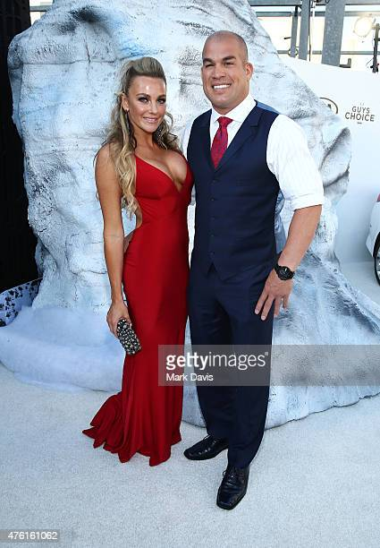 Model Amber Nichole Miller and MMA fighter Tito Ortiz attend Spike TV's Guys Choice 2015 at Sony Pictures Studios on June 6 2015 in Culver City...