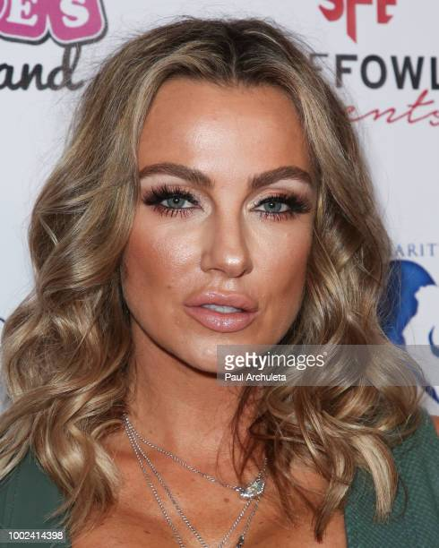 Model Amber Nichole Miller attends the 3rd Annual Babes In Toyland Support Our Troops Gala benefiting For The Troops at Bardot on July 19 2018 in...