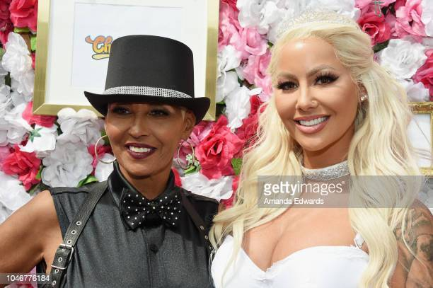 Model Amber Rose and her mother Dorothy Rose attend the 4th Annual Amber Rose SlutWalk on October 6 2018 in Los Angeles California