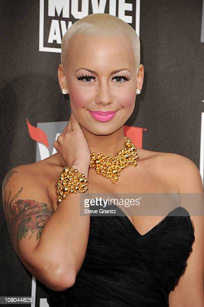 Model Amber Rose arrives at the 16th Annual Critics' Choice Movie Awards at the Hollywood Palladium on January 14 2011 in Los Angeles California