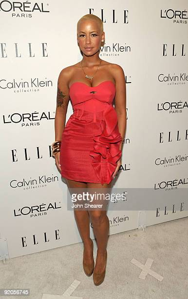 Model Amber Rose arrives at the 16th Annual ELLE Women in Hollywood Tribute held at the Four Seasons Hotel on October 19 2009 in Beverly Hills...