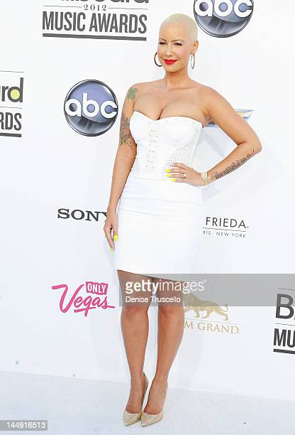 Model Amber Rose arrives at the 2012 Billboard Music Awards at the MGM Grand Garden Arena on May 20, 2012 in Las Vegas, Nevada.