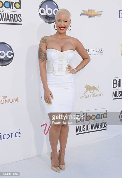 Model Amber Rose arrives at the 2012 Billboard Music Awards held at the MGM Grand Garden Arena on May 20 2012 in Las Vegas Nevada