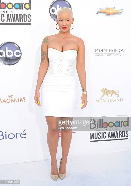 Model Amber Rose arrives at the 2012 Billboard Music Awards held at the MGM Grand Garden Arena on May 20, 2012 in Las Vegas, Nevada.