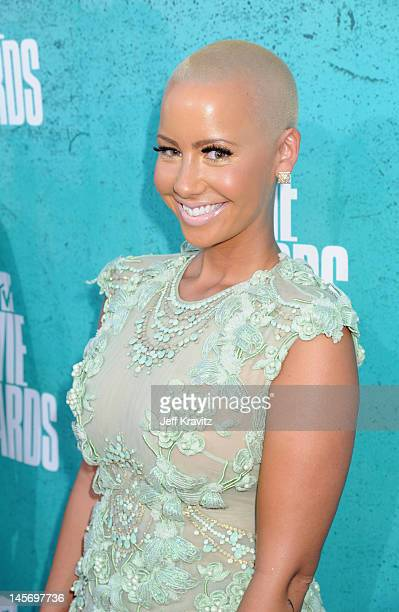 Model Amber Rose arrives at the 2012 MTV Movie Awards held at Gibson Amphitheatre on June 3 2012 in Universal City California