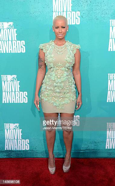 Model Amber Rose arrives at the 2012 MTV Movie Awards held at Gibson Amphitheatre on June 3, 2012 in Universal City, California.