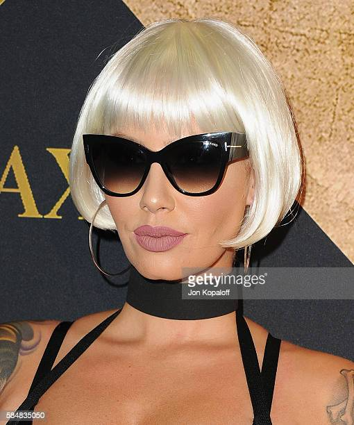 Model Amber Rose arrives at the Maxim Hot 100 Party at the Hollywood Palladium on July 30 2016 in Los Angeles California