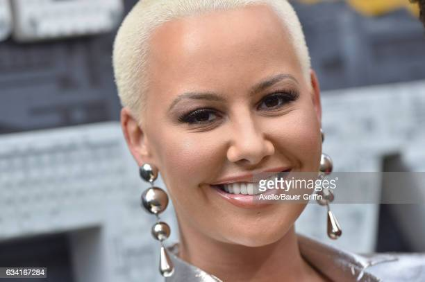 Model Amber Rose arrives at the premiere of Warner Bros Pictures' 'The LEGO Batman Movie' at Regency Village Theatre on February 4 2017 in Westwood...