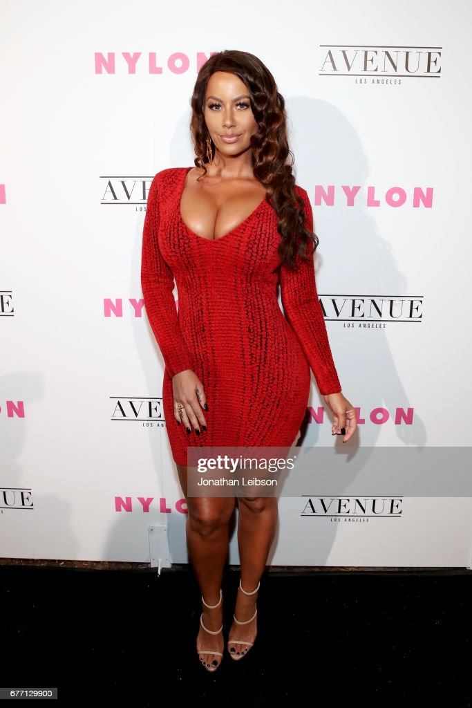 Model Amber Rose at the NYLON Young Hollywood Party at AVENUE Los Angeles on May 2, 2017 in Los Angeles, California.