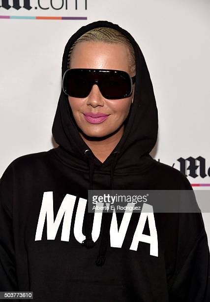 Model Amber Rose attends DailyMail's after party for 2016 People's Choice Awards at Club Nokia on January 6 2016 in Los Angeles California