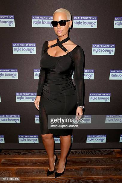 Model Amber Rose attends Kari Feinstein's PreGolden Globes Style Lounge at the Andaz West Hollywood on January 8 2015 in West Hollywood California