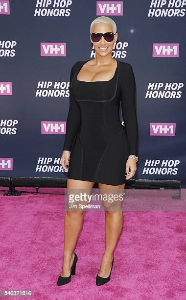 Model Amber Rose attends the 2016 VH1 Hip Hop Honors All Hail The Queens at David Geffen Hall on July 11 2016 in New York City