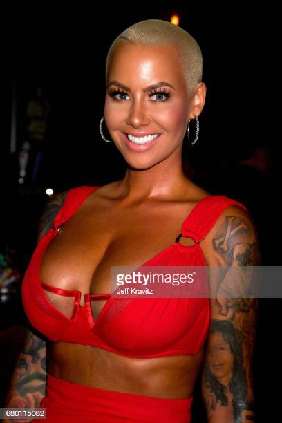 Model Amber Rose attends the 2017 MTV Movie And TV Awards at The Shrine Auditorium on May 7 2017 in Los Angeles California