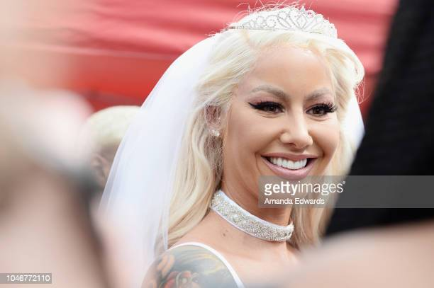 Model Amber Rose attends the 4th Annual Amber Rose SlutWalk on October 6 2018 in Los Angeles California