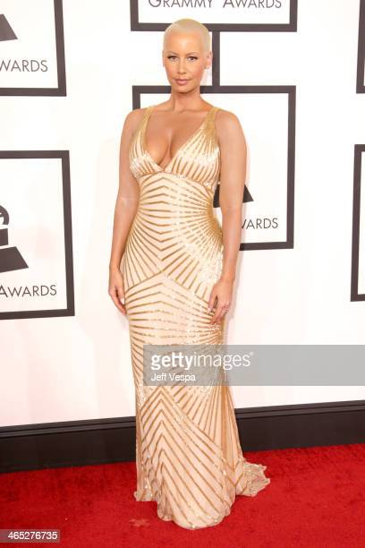 Model Amber Rose attends the 56th GRAMMY Awards at Staples Center on January 26 2014 in Los Angeles California