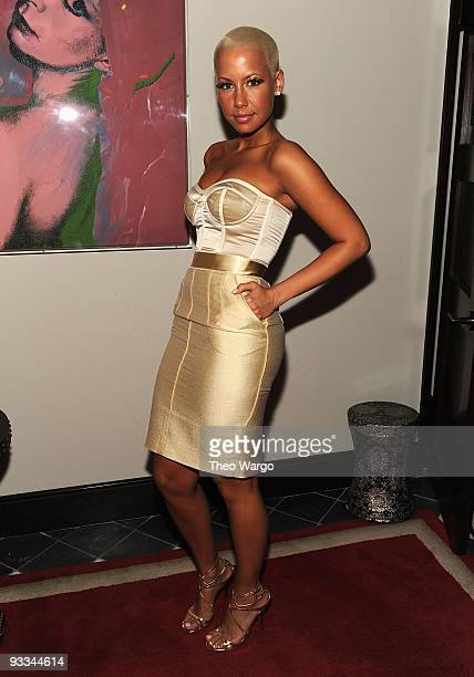 Model Amber Rose attends the after party for The Cinema Society with Screenvision Brooks Brothers screening of Me And Orson Welles at Gramercy Park...