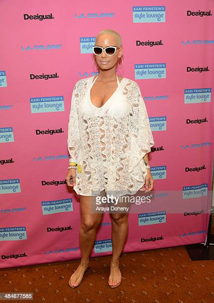 Model Amber Rose attends the Kari Feinstein Music Festival Style Lounge at La Quinta Resort and Club on April 13 2014 in La Quinta California