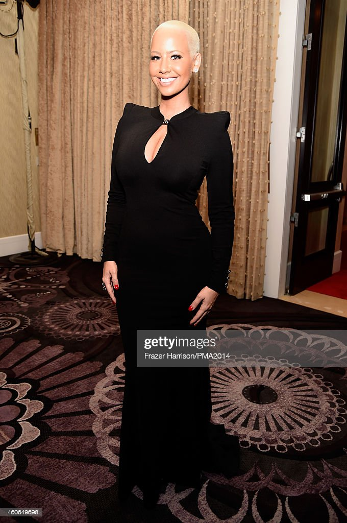 Model Amber Rose attends the PEOPLE Magazine Awards at The Beverly Hilton Hotel on December 18, 2014 in Beverly Hills, California.