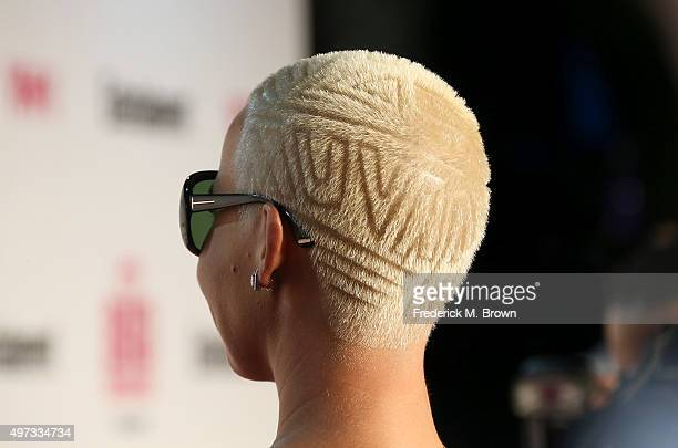 Model Amber Rose, hair detail, attends VH1 Big in 2015 With Entertainment Weekly Awards at Pacific Design Center on November 15, 2015 in West...