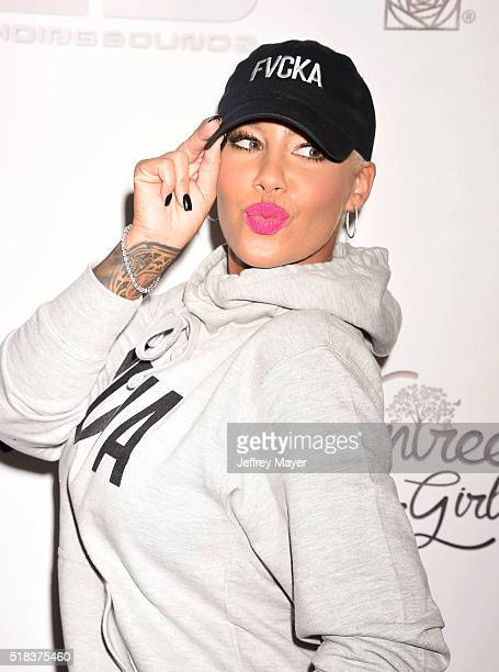 Model Amber Rose hosts a Takeover event at Dave Busters on March 30 2016 in Hollywood California