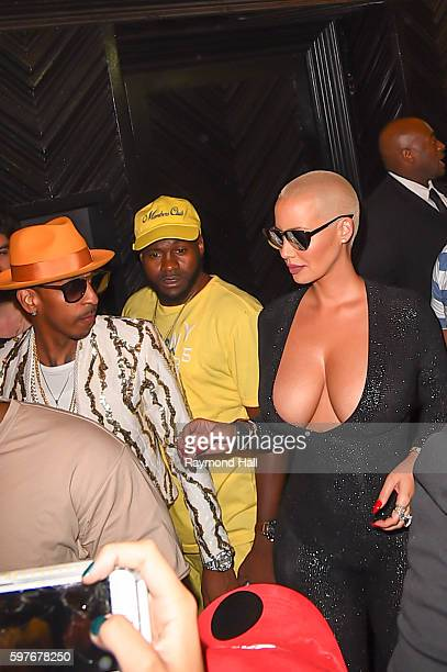 Model Amber Rose is seen outside Club Up and Down on August 29 2016 in New York City