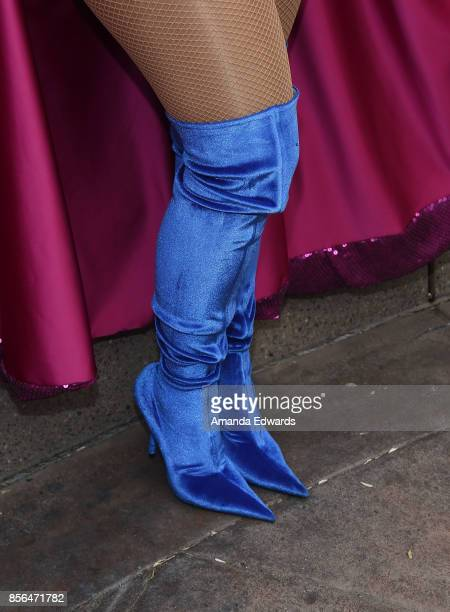 Model Amber Rose shoe detail attends the 3rd Annual Amber Rose SlutWalk on October 1 2017 in Los Angeles California
