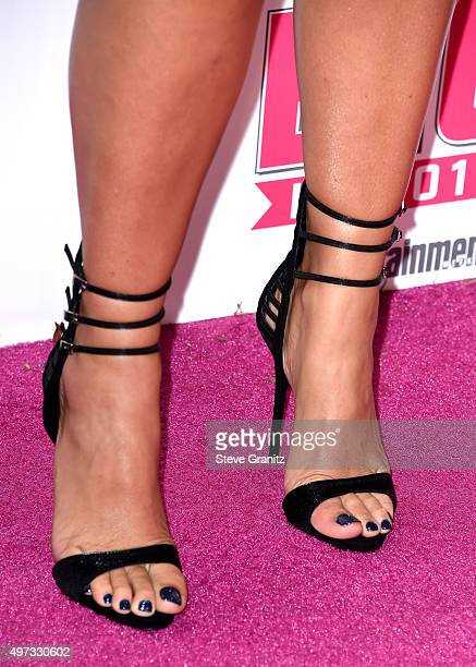 Model Amber Rose, shoe detail, attends VH1 Big In 2015 With Entertainment Weekly Awards at Pacific Design Center on November 15, 2015 in West...