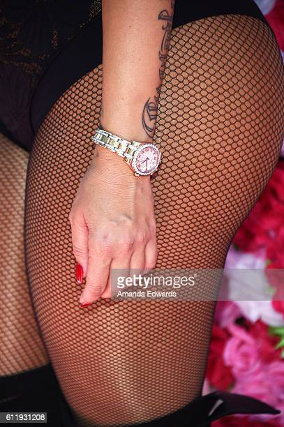 Model Amber Rose watch detail attends the Amber Rose SlutWalk 2016 at Pershing Square on October 1 2016 in Los Angeles California