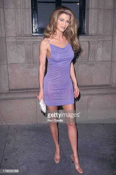 Model Amber Smith attends Maxim Magazine's 'Circus Maximus' First Annual Hollywood Gala on May 6 1999 at The Swimming Pool in Hollywood California