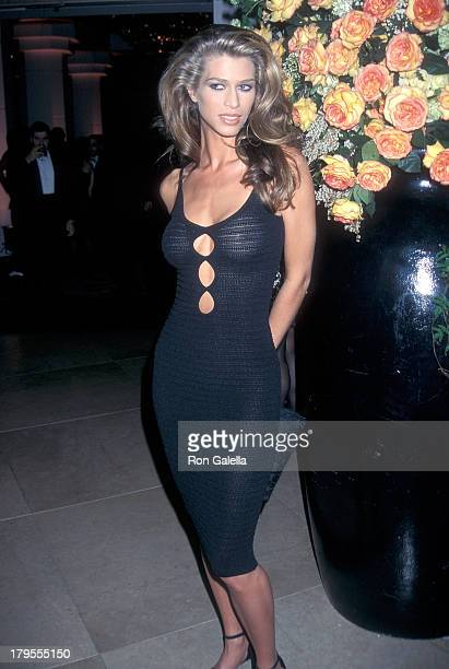 Model Amber Smith attends the 18th Annual St Jude Children's Reseach Hospital Hollywood Benefit Gala on March 5 1998 at the Beverly Hilton Hotel in...