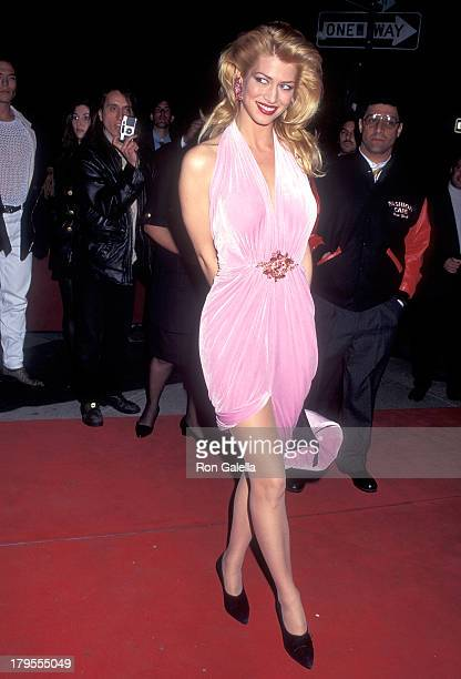 Model Amber Smith attends the Fashion Cafe Grand Opening Celebration on April 7 1995 at the Fashion Cafe in New York City